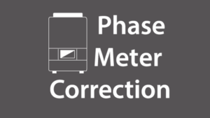 Imeon app phase meter correction